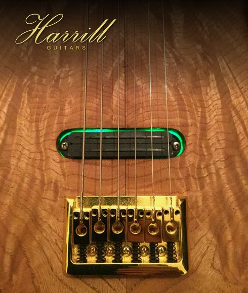 Handcrafted lap steel guitars by Harrill Guitars